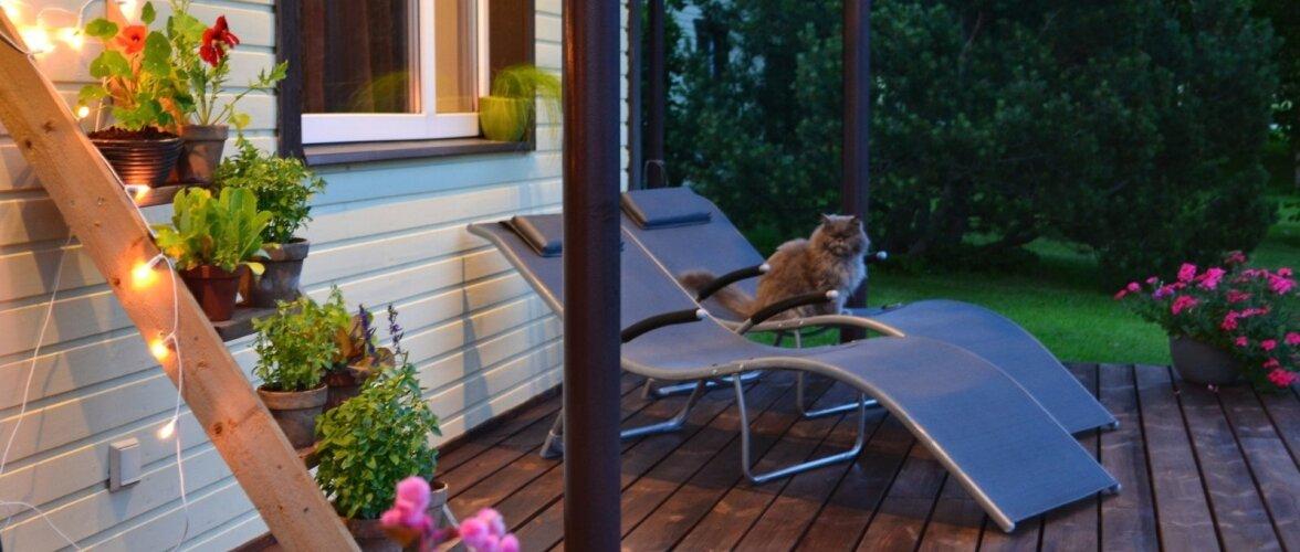 """Fotovõistlus """"Minu kodu suvel"""": Stiilseks ehitatud terrass lausa kutsub istuma"""