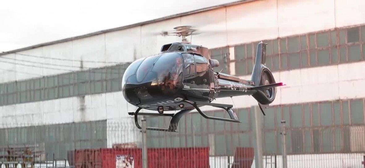 PUBLIKU VIDEO: Nagu tõeline staar! Ärimees Oleg Gross lahkus Harju Rallilt helikopteriga