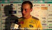 FEIL: Noor sportlane Toomas Peterson inglise keelt rääkimas.