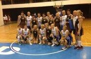 Eesti 50+ naiskond pärast võitu Läti üle