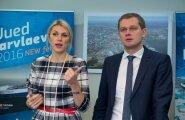 Urve Palo ja Tallinna Sadama pressikonverents