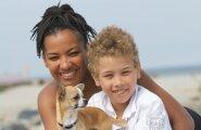 Monika Tuvi koer Dollari ja poeg Maciga (praeguseks juba 18-aastane)