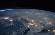 Астронавт опубликовал космические снимки метели в США