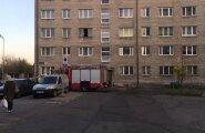 ФОТО DELFI: В ласнамяэской квартире загорелась кровать: пострадал мужчина и погиб кот