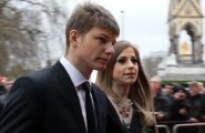 Andrei Arshavin with his wife, Yulia