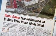 Ilmar Raag andis ajakirjanikule mõista, et tema küsimused on valed.