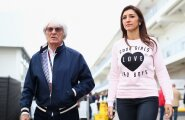F1 boss Bernie Ecclestone ja tema naine Fabiana Flosi