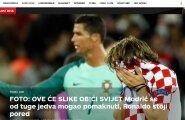 Horvaatia ajalehed pärast kibedat kaotust: palju nuttu ja pisaraid