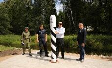 FOTO: President, siseminister ja PPA juht paigaldasid Eesti-Läti-Vene piiride ühinemiskohta piiriposti number 1