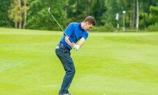 ÜLIPÕNEV ALGUS: Martin Järve juhib Eesti golfi meistrivõistlustel, viis mängijat vaid ühe löögi kaugusel