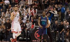 VIDEO: Valanciunase kaksikduubel aitas Raptorsil alistada Hornetsi