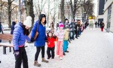 DELFI VIDEO JA FOTOD: Suurpered moodustasid Tallinnas rekordilise inimketi