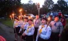 DELFI VALGAS: Linnapargis toimus Kaitseliidu orkestri kontsert ning süüdati muinastuled