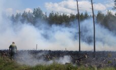 КАРТА: На границе Эстонии и Латвии бушует лесной пожар