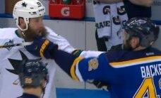 VIDEO: NHL-i kaks habemikku võrdlesid konverentsi finaalis, kummal on pikem