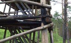 FOTOD: Pääsküla rabatorn on süütamiskatse tõttu suletud