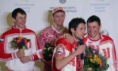 Venemaa olümpiadelegatsiooni vastuvõtt Moskvas, murdmaasuusatajad