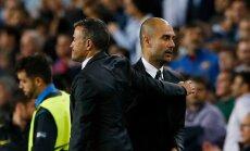 Praegune Barca boss Luis Enrique (vasakul) lohutab eelkäijat Pep Guardiolat.