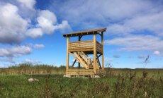Puitkarkassmaju tootev firma kinkis Lahemaa rahvuspargile linnuvaatlustorni