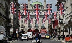 Ühendkuningriigi liidu lipud lehvivad Londoni tänavate kohal. 23. juunil ütlesid britid rahvahääletusel jah Euroopa Liidust lahkumisele.