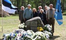 Küüditatud ja hukatud Eesti ohvitseride mälestusstseremoonia Värska lipuväljakul.14.06.2016