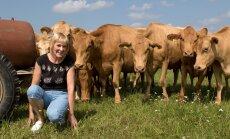 """""""Maatõugu lehmad on meil väga hästi hoitud, poputame neid kui lemmikloomi,"""" ütleb parim maakarjakasvataja Reet Loorits."""