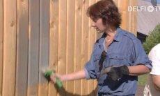 KODUSAADE: Marika Korolev otsustas uue maja fassaadi viimistlemisel terrassiõli kasuks