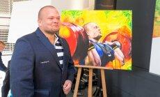 Noore kuntsiku Karl-Markus Antsoni Eesti sportlastest tehtud maalide esitlus