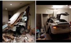 Korea kuulsus väidab, et ta Tesla X põrutas ise läbi garaaži seina elutuppa