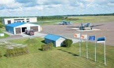 Soome ja Rootsi Douglas C-47 Roomassaare lennuväljal
