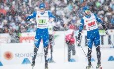 Distantsimees Raido Ränkel (vasakul) tegi oma töö tõhusalt ära, sprinter Marko Kilbi (paremal) sõit jäi kesiseks.