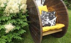 Kaablirull on muutunud õdusaks aiakiiktooliks.