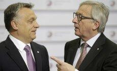 Euroopa Komisjoni president Juncker Ungari peaminister Orbánile: tere, diktaator!