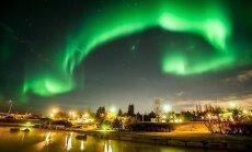 В Рейкьявике отключили свет ради северного сияния