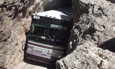 Peeglid jäid ikka alles? Tunnel, mille läbimine on bussijuhi jaoks paras närvide mäng