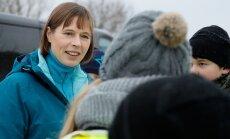 President Kersti Kaljulaid külastab õppuseid