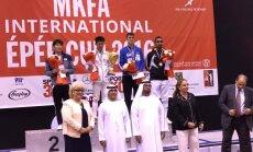 Sten Priinits (sinises) saavutas Dubais kolmanda koha