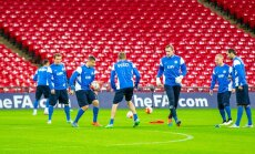 Eesti koondislased võimsal Wembley staadionil õhtusel treeningul