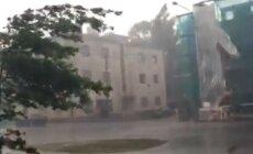 FOTOD ja VIDEO: Tartus hakkas rahet sadama ja äikest lööma, uue kaubanduskeskuse juures uputas