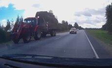 VIDEO: Ohtlik teekond pealinnast Pärnusse – bussijuhil punasest poogen; traktorist mööda elu hinnaga?