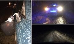 FOTOD: Põltsamaa vallas jäi auto alla hooldekodust lahkunud naine, kes kõndis keset sõiduteed