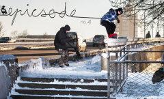 VIDEO: Noored teevad keset Tallinna linna lumelauatrikke