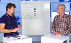 PRESIMEETER: Üllatuskülaline Eiki Nestor jagab kaaskandidaatidele preemiaid