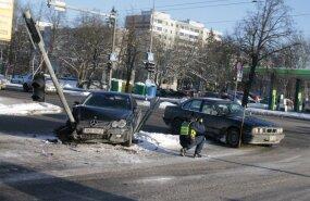 Kahe auto kokkupõrge Mustamäe tee ja Marja tänava ristmikul