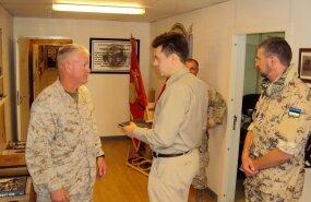 USA kindralmajor kiitis kaitseminister Urmas Reinsalule Afganistanis Eesti kaitseväelasi