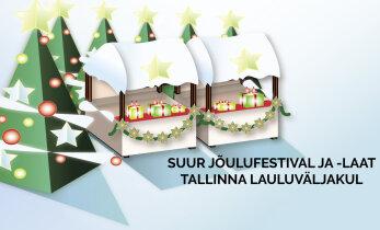 Tallinna lauluväljak muutub pühade eel imeliseks jõulumaaks!
