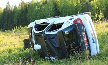 Harju rallil ränga avarii teinud auto