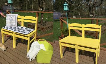 Hea idee ja lihtne teostus: kahest toolist sai kokku üks pink