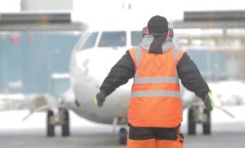VIDEO: Lennuväljatöötajad pakast ei karda, vastav varustus ja kiire tegutsemine ei lase külma ligi