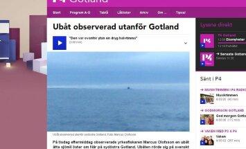 Kalur märkas Gotlandi lähistel allveelaeva, Rootsi kaitseväe sõnul on alus neile teada